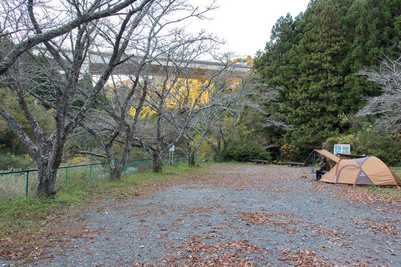 浜松市滝沢キャンプ場(サイト南側)