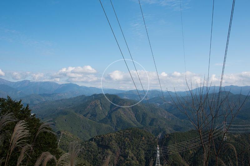秋葉山の富士山ビューポイント(送電線鉄塔)